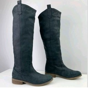 Steve Madden Bankker Suede Leather Kee high Boots